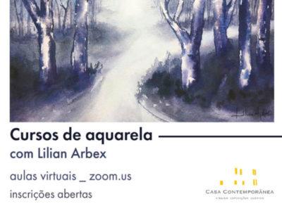 Curso de aquarela, com Lilian Arbex