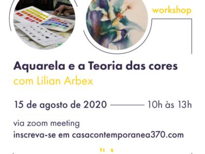 Workshop Online – Aquarela e a Teoria das Cores, com Lilian Arbex